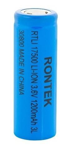 Kit 16 Pçs Pilha Li-ion 3.7v 1200mah Rontek 17500 Icr17500