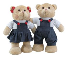 Casal De Ursos Colegial Em Pé - P