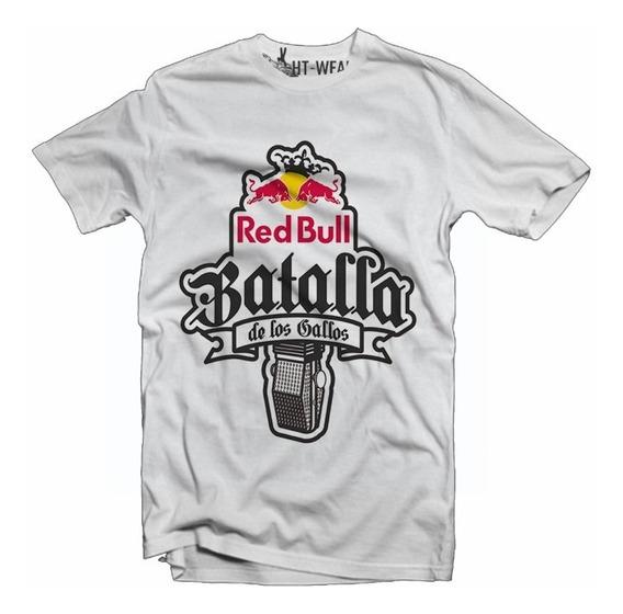 Playera Batalla De Gallos Red Bull Blanca Slim Fit