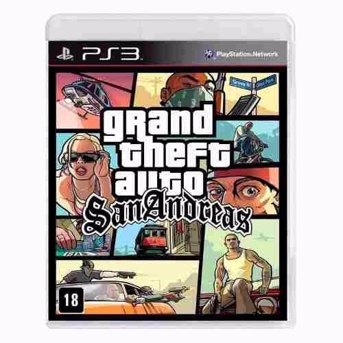 Grand Theft Auto San Andreas Gta Mídia Física Ps3