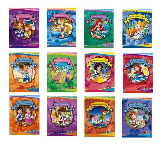 Coleção Clássicos Encantados Baby 12 Livros Coloridos