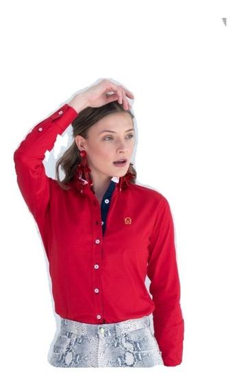 Camisa Muletta Dama Básica Rojo