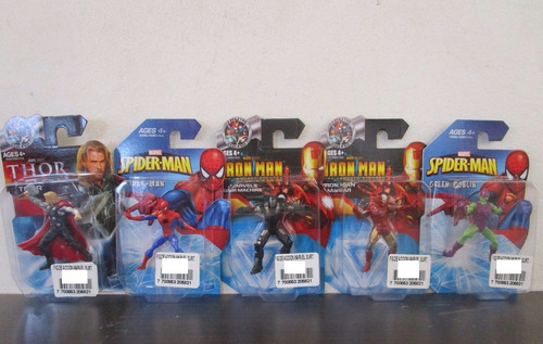 5 Figuras Pequeñas Marvel Iron Man Thor Spiderman Y Mas