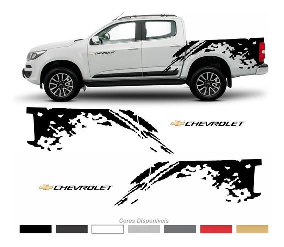 Kit Adesivo Nova Chevrolet S10 Faixa Lateral Ano 2012 2013 2014 2015 2016 2017 2018 2019 Personalizado Imp288