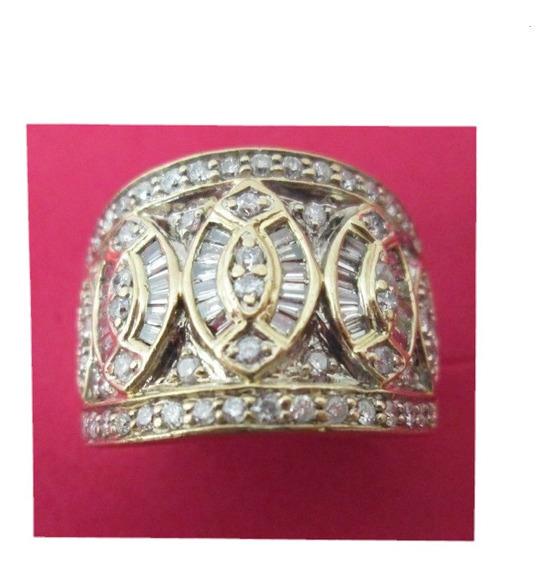 Anillo Dama Oro Solido 14 Kilates Con Diamantes Naturales.