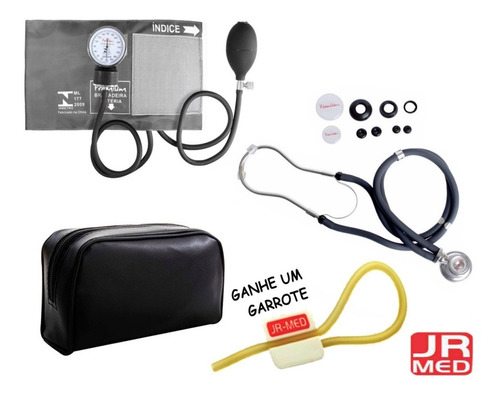 082b2ac4b Kit Enfermagem Aparelho De Pressão+esteto Rappaport Premium