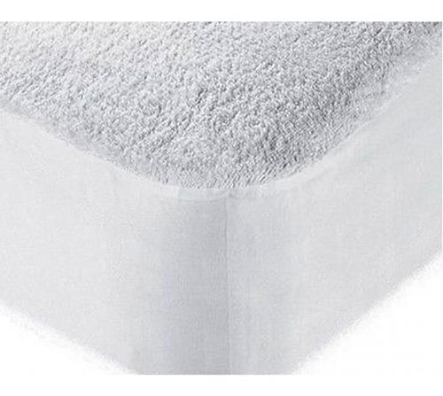 Protector De Colchón Algodón Sencillo 100% Impermeable