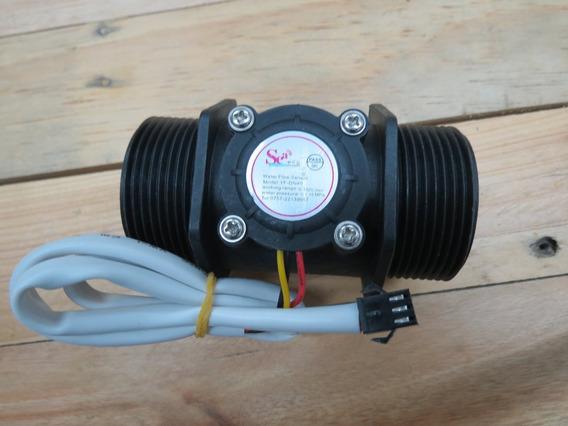 Sensor Fluxo Vazão De Agua Arduino Efeito Hall 1 1/2 Pol