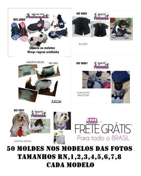 50 Moldes De Roupas Pet Enviados Via Link E E-mail Kit 1