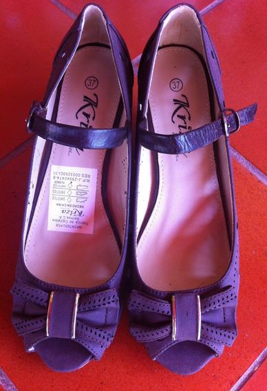 Sandalias Color Marron, Talla 37