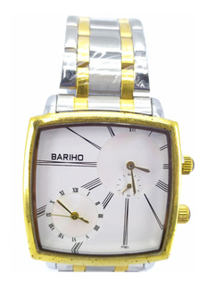 Reloj Bariho Elegante Casual Doble Hora Acero