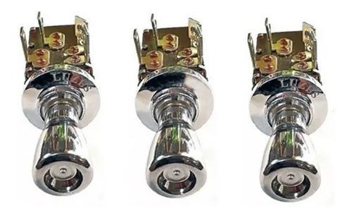 Imagem 1 de 3 de Botão Farol 2 Luzes 1 Crom. Willys 2 Fases Uso Geral Cromado
