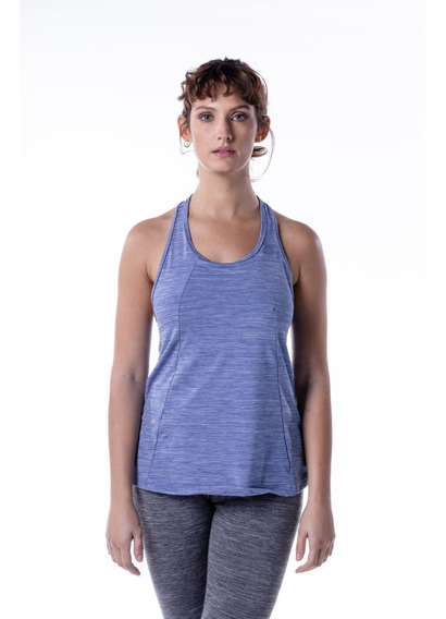 Musculosa Deportiva Mujer Azul Mizu