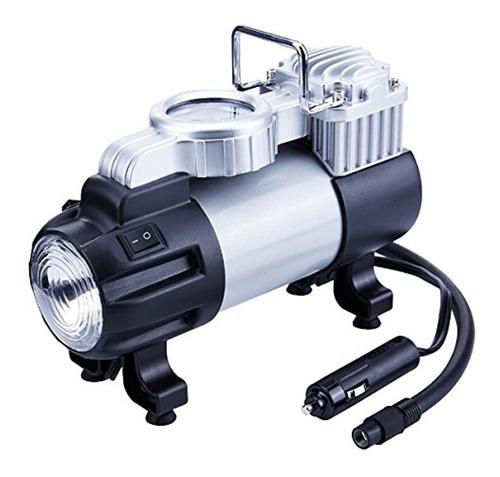 Compresor De Aire Neumaticos  Portátil Con Luz De Led 12 V
