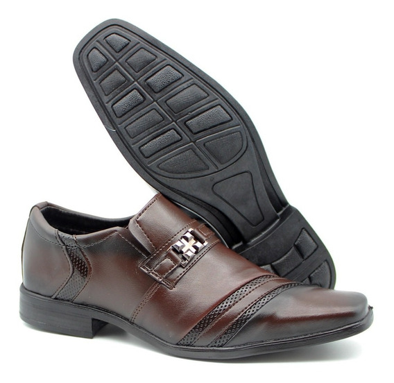 Sapato Social Casual Solado Antiderrapante Marrom 2010