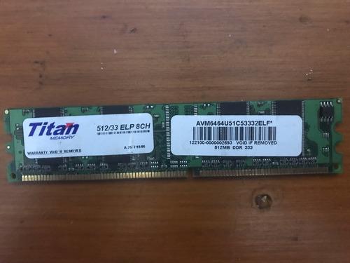 Memoria Ram Titan Memory 512mb Ddr 333