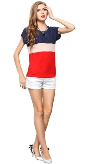 Blusa Tricolor Chiffon