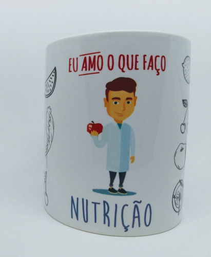 Imagem 1 de 4 de Caneca Personalizada Profissão Nutrição Nutricionista