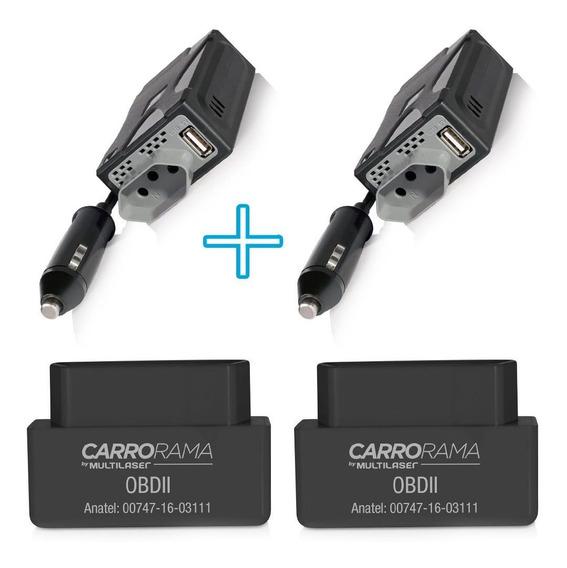 2 Scanner Computador De Bordo + 2 Inversor De Potencia 220v