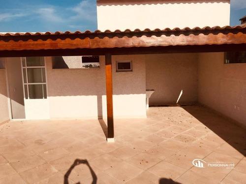 Imagem 1 de 9 de Cobertura Com 2 Dormitórios À Venda, 132 M² Por R$ 480.000,00 - Jardim Paraíso - Santo André/sp - Co0067