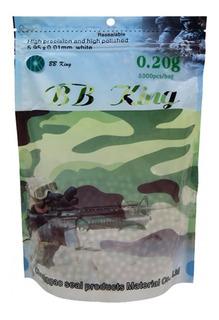 Munição Bolinha Airsoft 0,20g Refil Pacote 5000 Bbking Avb