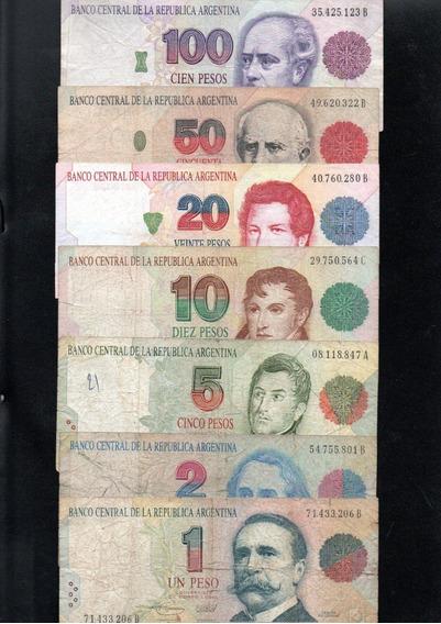 Lote Serie Completa Billetes Pesos Convertibles 1er Diseño