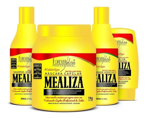 Kit Profissional Maizena Capilar Mealiza Forever Liss