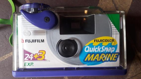 Camera Fotográfica Descartável Fujicolor Marine P/ Devoracao