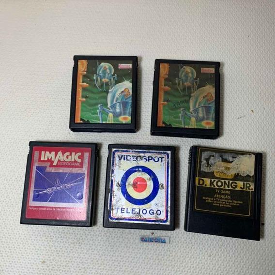 Lote 5 Jogos Marcas Variadas Para Atari 2600 Compatíveis