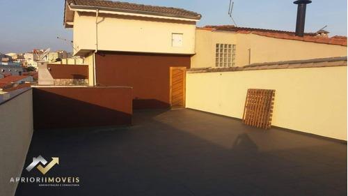 Imagem 1 de 29 de Cobertura Para Alugar, 180 M² Por R$ 2.200,00/mês - Vila Metalúrgica - Santo André/sp - Co1318