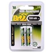 Pilha Recarregavel Aa Pequena 2600 Mah Kit Com 5 Cartelas