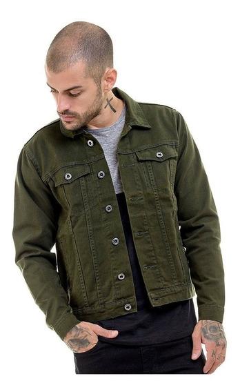 Jaqueta Casaco Premium Jeans Slim Fit Militar Frio Offert