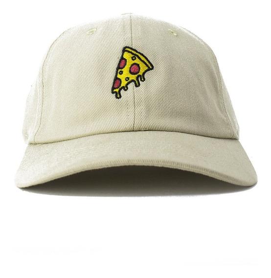 Boné Dad Hat Pizza Original Bege Narina Aba Curva Com N.f