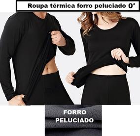 Roupa Térmica Peluciada Calça+camisa Frio Proteção+meia+luva