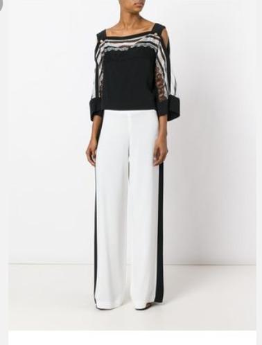Pantalon Palazo Con Raya Al Costado. Talles Reales!