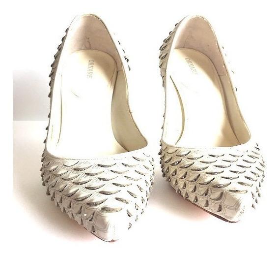 Sapato Escama De Peixe