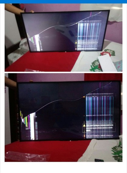 Smart Tv 43 Polegadas Ful Hd Conversor Com Displey Quebrado.
