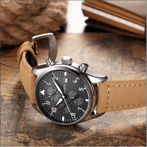 Relógio Ochstin Quartzo Pulseira Couro - Original Promoção