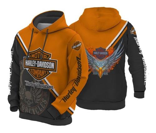 Busos Hoodies Con Capota Moteros Harley Davidson