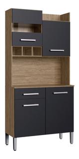 Mueble De Cocina Kit Completo 4 Puertas Cajon Amoblamiento