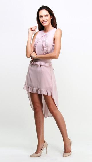 Vestido Elegante Con Estilo Asimétrico