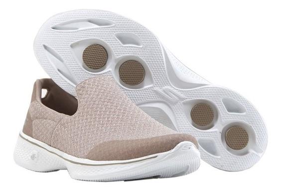 Skechers Zapatillas /panchas Mujer Go Walk 4.0 Diffuse Beige