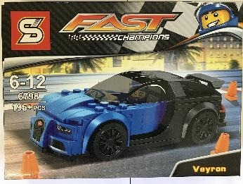 Blocos De Montar Carro Bugatti Veyron Compatível Lego 195pçs