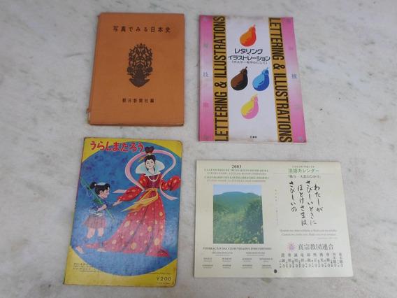 3 Livros Antigos Japones E Um Calendario Barato