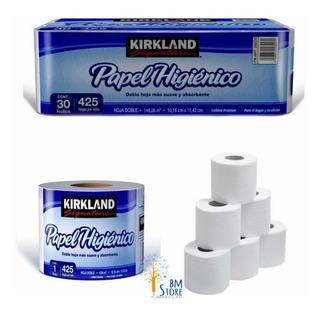 Pack De 30 Rollos Papel De Baño De 425 Hojas Dobles Kirkland