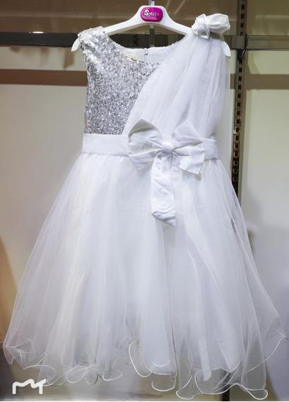 Vestido Importado De Nena Con Tull Y Lentejuela Para Fiesta, Eventos, Cortejo, Comunion, Cumpleaños Talle 4 A 10