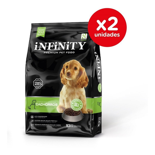 Alimento Perros Cachorros Infinity Premium Pack 2 X 10 Kgs