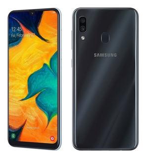Samsung Galaxy A30 32gb 3gb Negro C/funda En Caja.10 Puntos