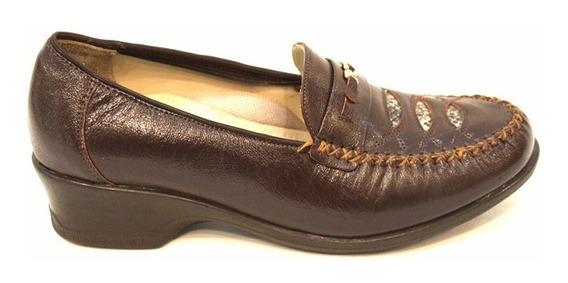 Zapato Mocasin Cuero Mujer Art 165. Marca Modigliani