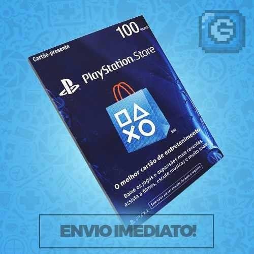 Cartão Playstation Store 100 Reais Psn Brasileira